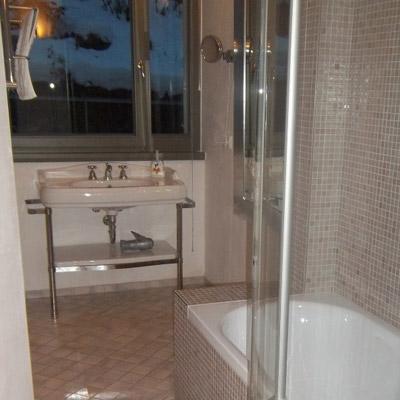 Apartment Bad Schandau Badezimmer mit Dusche